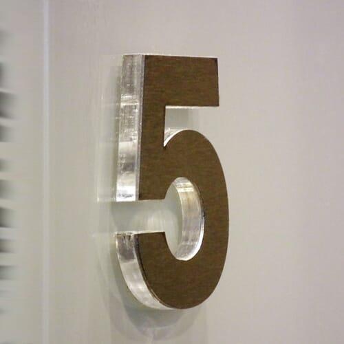 Litery blokowe z plexi 4
