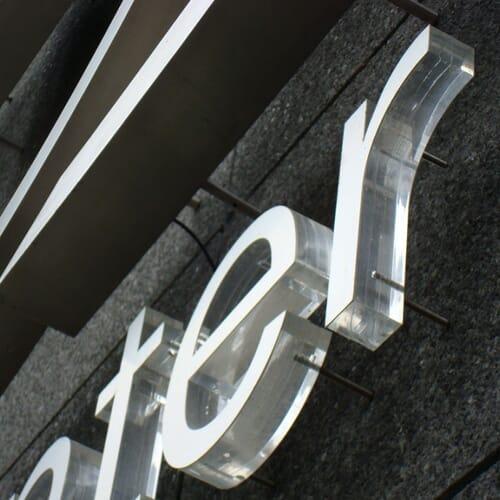 Litery blokowe z plexi 3