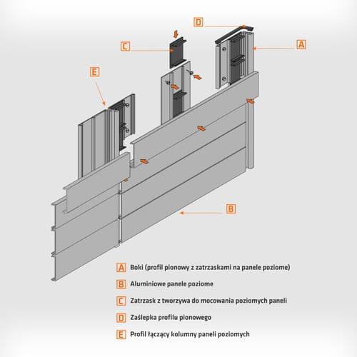 Tablice informacyjne ścienne aluminiowe 2