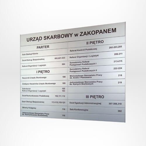 Tablice informacyjne ścienne aluminiowe 1
