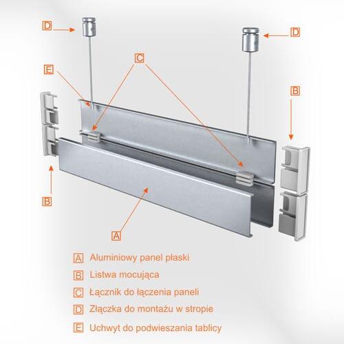 Tablice wiszące aluminiowe 2