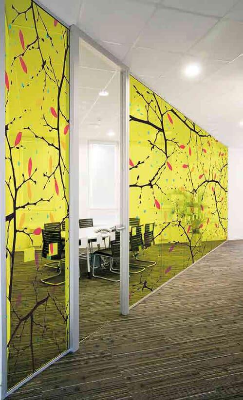 Szyby laminowane, z laminatami z grafiką lub z kolorowymi foliami 2